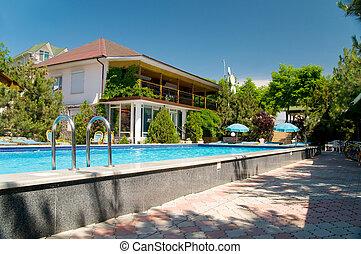 casa, piscina