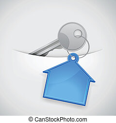 casa, pocke, chiave, nuovo