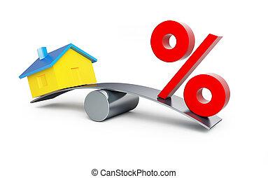 casa, porcentaje, o