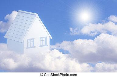 casa, poseer, sueño