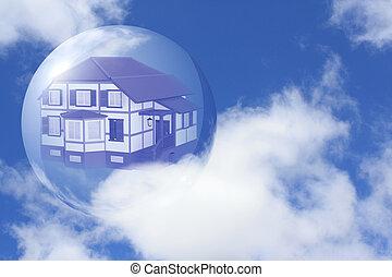 casa, próprio, sonho
