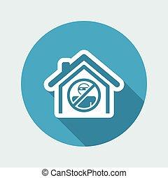 casa, proteção, ícone