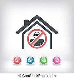 casa, proteção, conceito, ícone