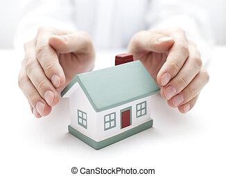 casa, proteger, su