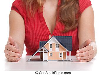 Casa proteggere concetto assicurazione proteggere for Aprire piani casa concetto