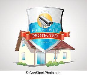 casa, protezione, scudo