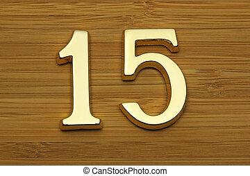 casa, quince, placa de número, dirección
