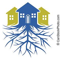 casa, raíz