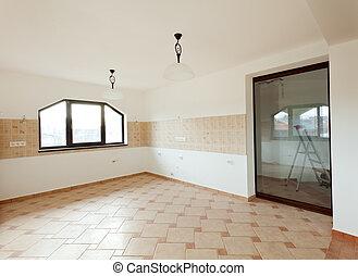 casa, recentemente, costruito, cucina
