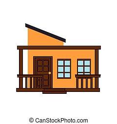 casa, residenziale, architettura, costruzione moderna