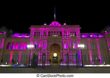 Casa Rosada (Pink House) by night - Casa Rosada by night...