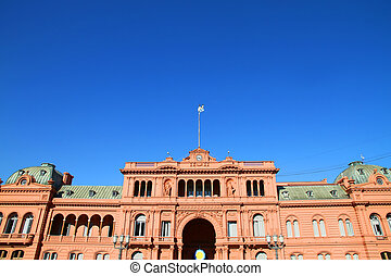 "Casa Rosada - The ""Casa Rosada"", the governmental building..."