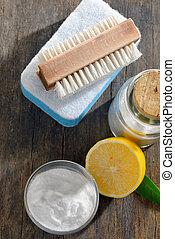 casa, sódio, ferramentas, limpeza, bicarbonate