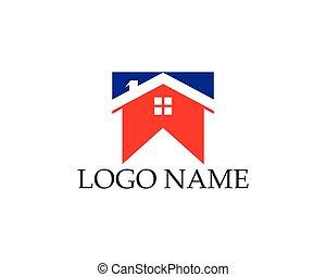 casa, sagoma, logotipo