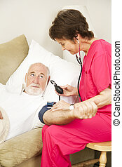 casa, salute, -, pressione sanguigna, verticale
