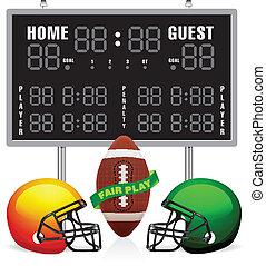 casa, scoreboard, ospite