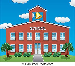 casa, scuola, vettore