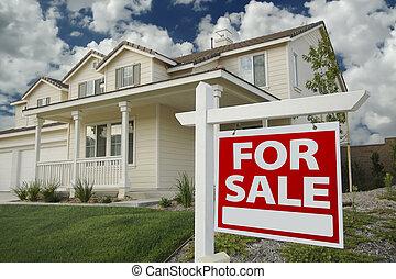 casa, segnale vendita, e, casa