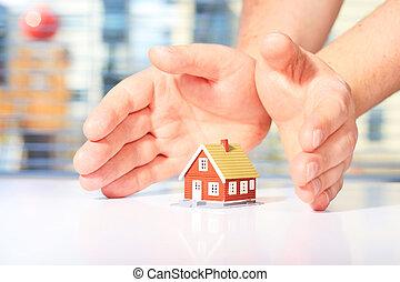 casa, seguro, conceito