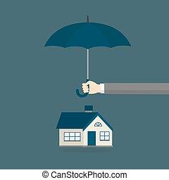 casa seguro, ilustración