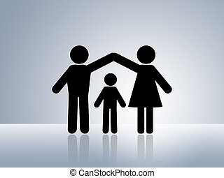 casa, sicuro, protezione, bambino