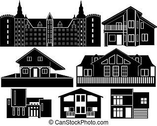 casa, silhouette