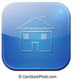 casa, simbolo, app