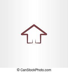 casa, simbolo, disegnare elemento
