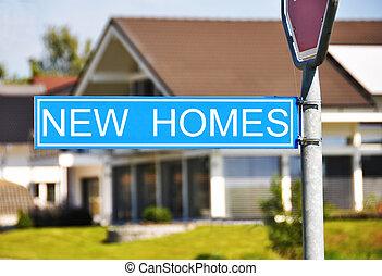 casa, sinal, lares, contra, novo