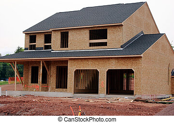 casa, singolo, costruzione, famiglia, sotto