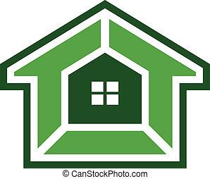 casa, sistema segurança, imagem, logotipo