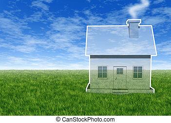 casa, sogno, visione