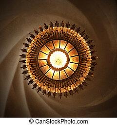 casa, sol, batllo, gaudi, lámpara, diseñado