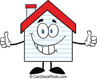 casa, sonriente, apartadero, nuevo