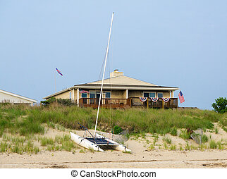 casa spiaggia, in, estate