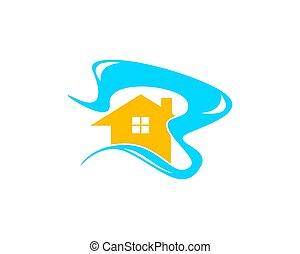 casa spiaggia, logotipo, disegno, sagoma