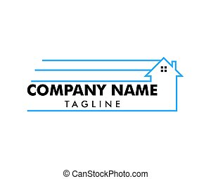 casa, spostamento, disegno, sagoma, logotipo
