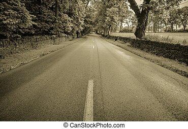 casa, strada lunga