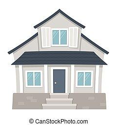 casa, suburbano, clássicas
