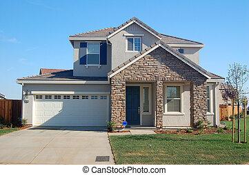 casa, suburbano