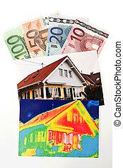 casa, térmico, salvar, energy., imaging