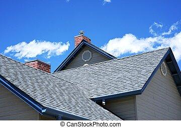 casa, telhado