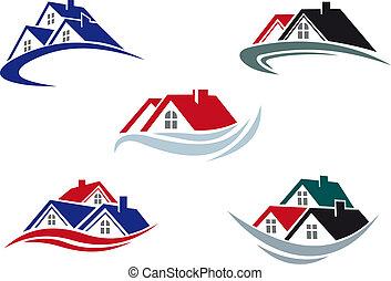 casa, telhados
