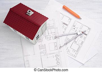 casa, tools., plano