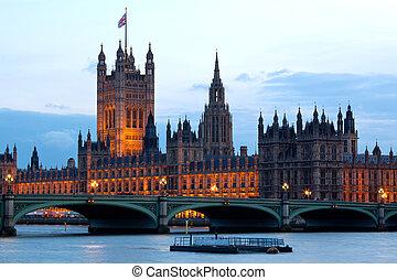 casa, torre, parlamento, londres, victoria