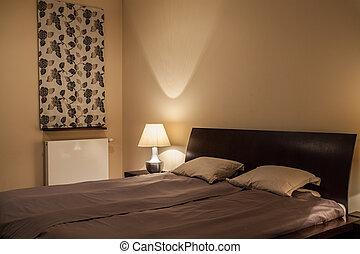 casa, -, travertine, dormitorio