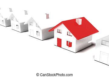 casa, unico, concetto
