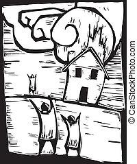 casa, urente