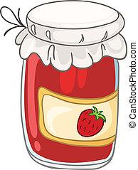 casa, vaso, cartone animato, cucina