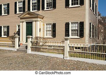 casa, vecchio, inghilterra, nuovo, coloniale